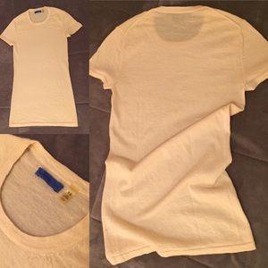 Martin & Osa cream cashmere short sleeve sweater